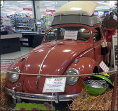 Even the local supermarket joined in! '56 oval in the fruit & veg isle!  Wicked!